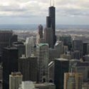 chicago urban skyline